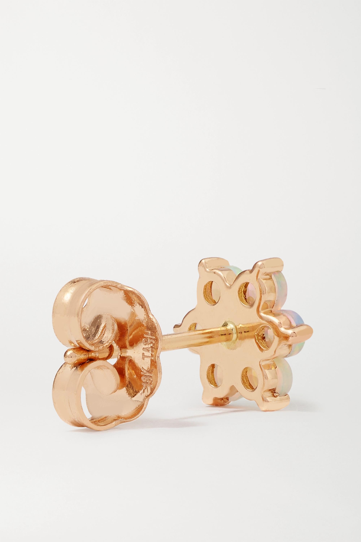 MARIA TASH 18-karat rose gold, opal and diamond earring