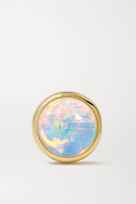 MARIA TASH 4mm 14-karat gold opal earring