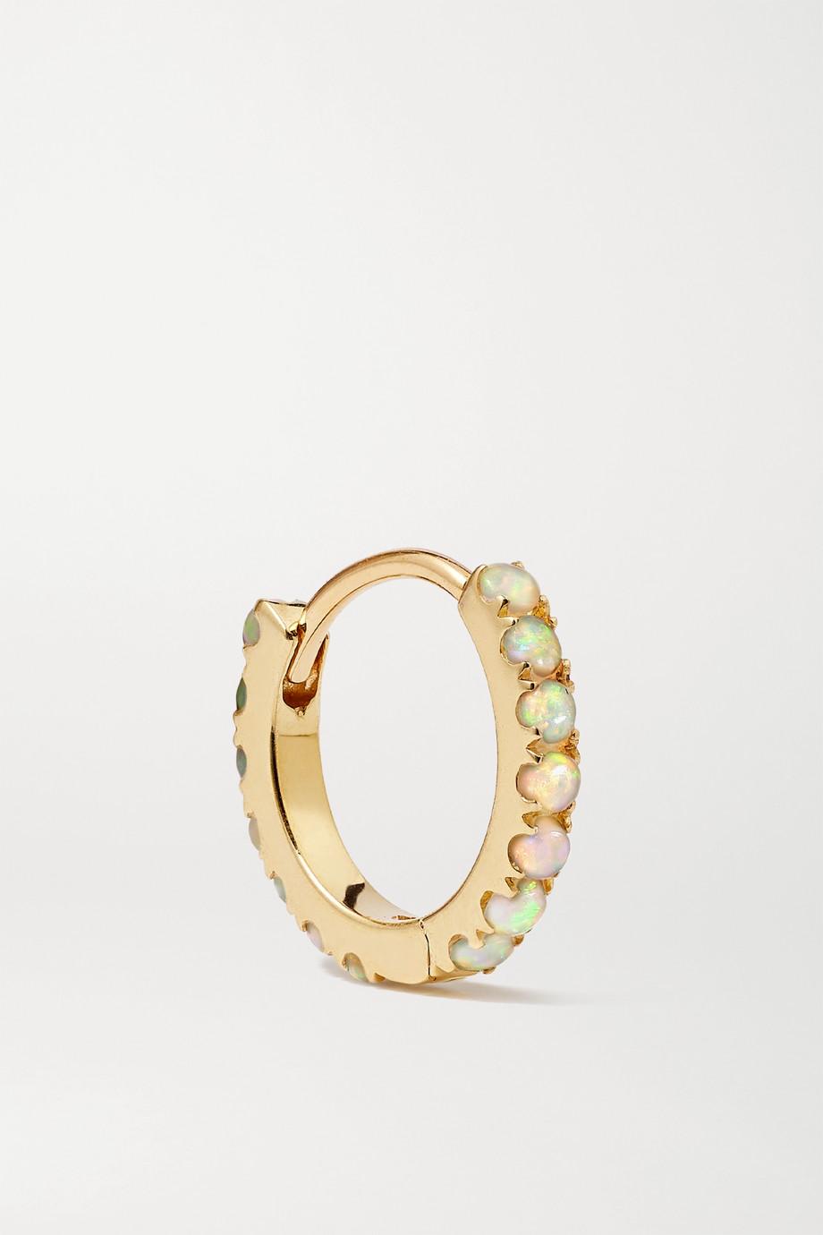 Maria Tash 8mm 14-karat gold opal hoop earring