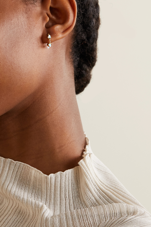 MARIA TASH 9.5mm 14-karat gold opal hoop earring