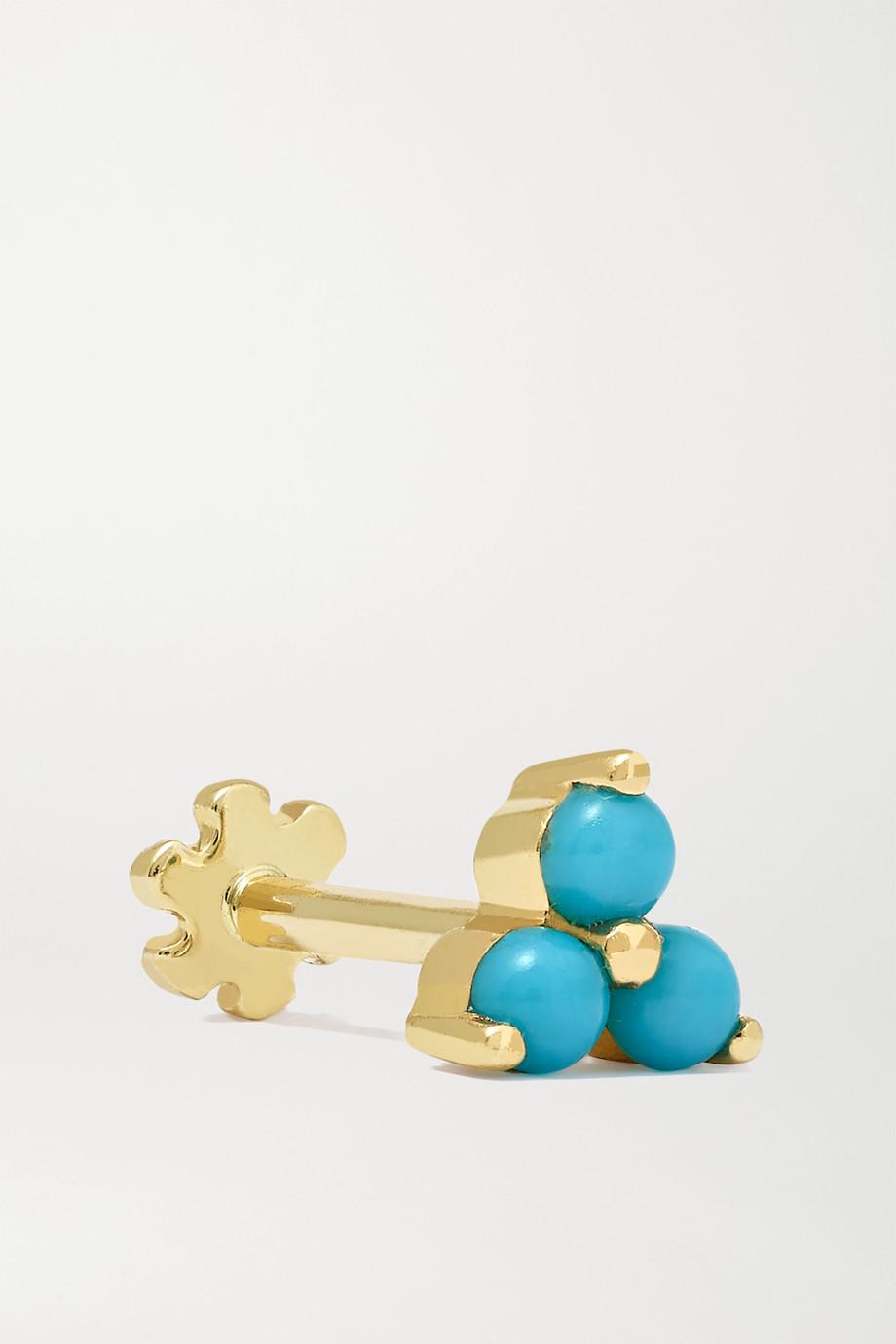 MARIA TASH 14-karat gold turquoise earring