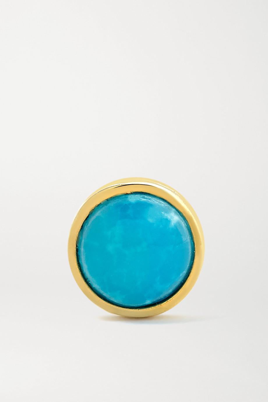 Maria Tash 4mm 14-karat gold turquoise earring