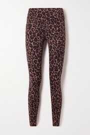 Varley Luna leopard-print stretch leggings