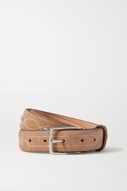 rag & bone South Dress studded suede belt
