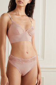 Stella McCartney Lace-trimmed stretch-jersey briefs