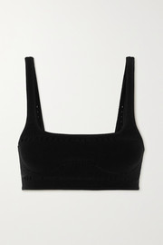 Stella McCartney Perforated jersey soft-cup bra