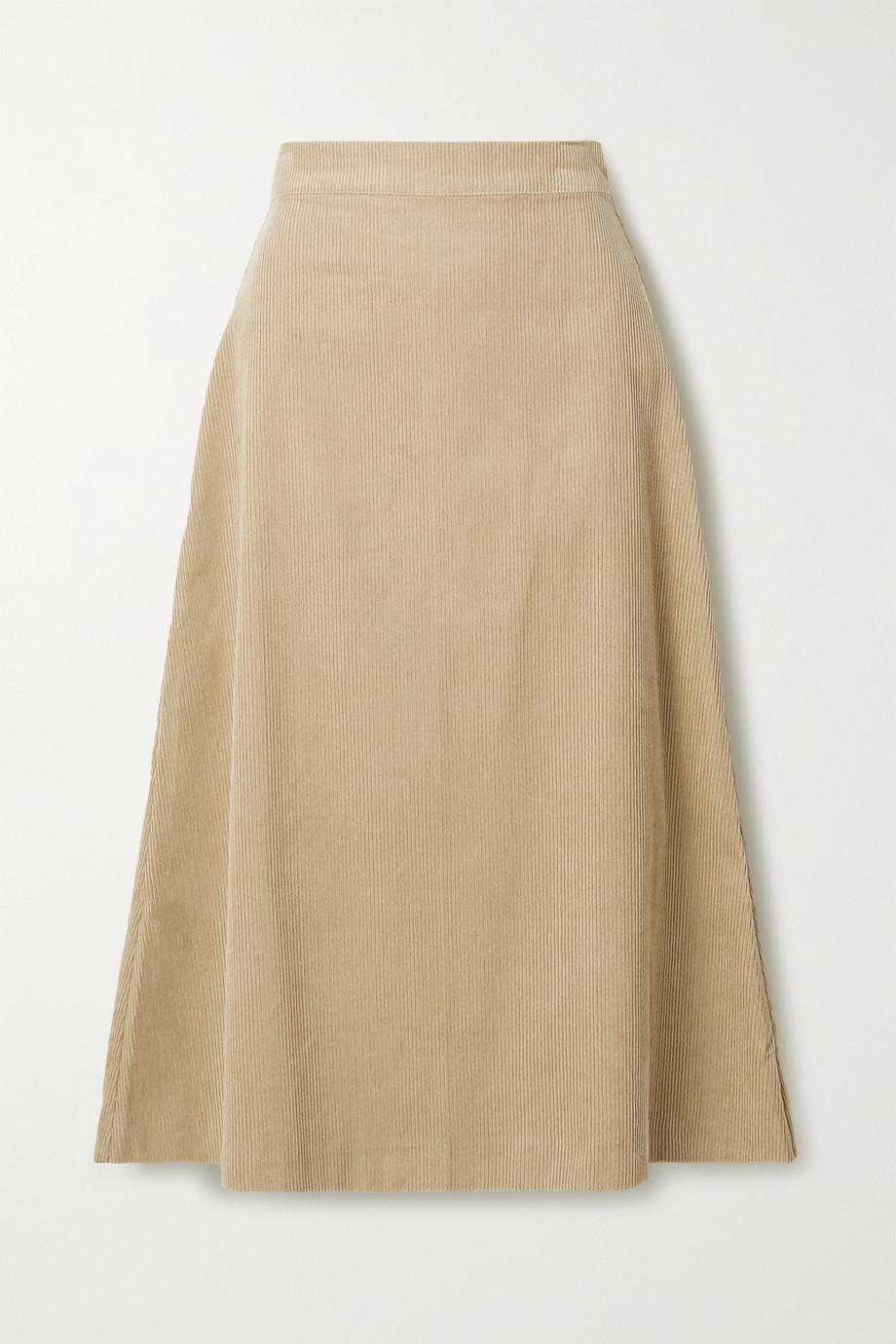 ARoss Girl x Soler Alma cotton-corduroy midi skirt