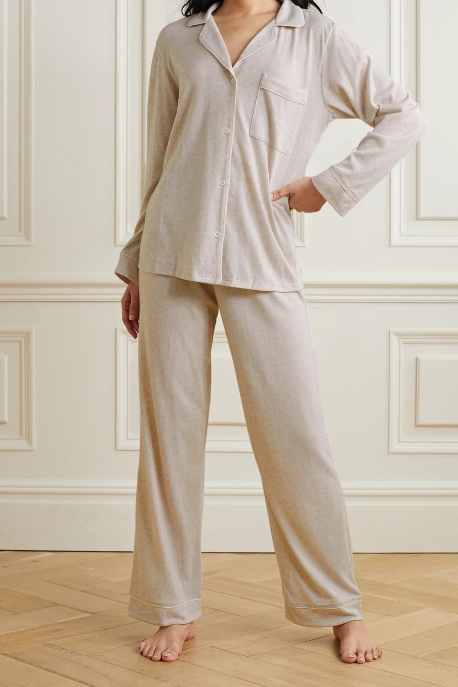 Eberjey Bobby Pyjama aus Jersey mit Paspeln