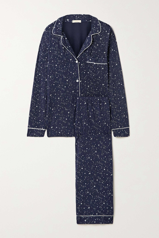 Eberjey Gisele piped printed stretch-modal pajama set