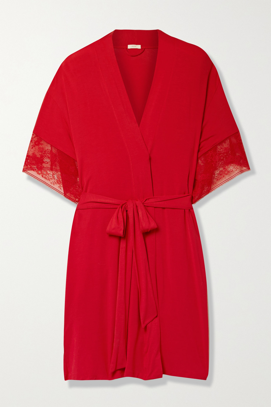 Eberjey Raquel Heartbreaker lace-trimmed stretch-modal robe