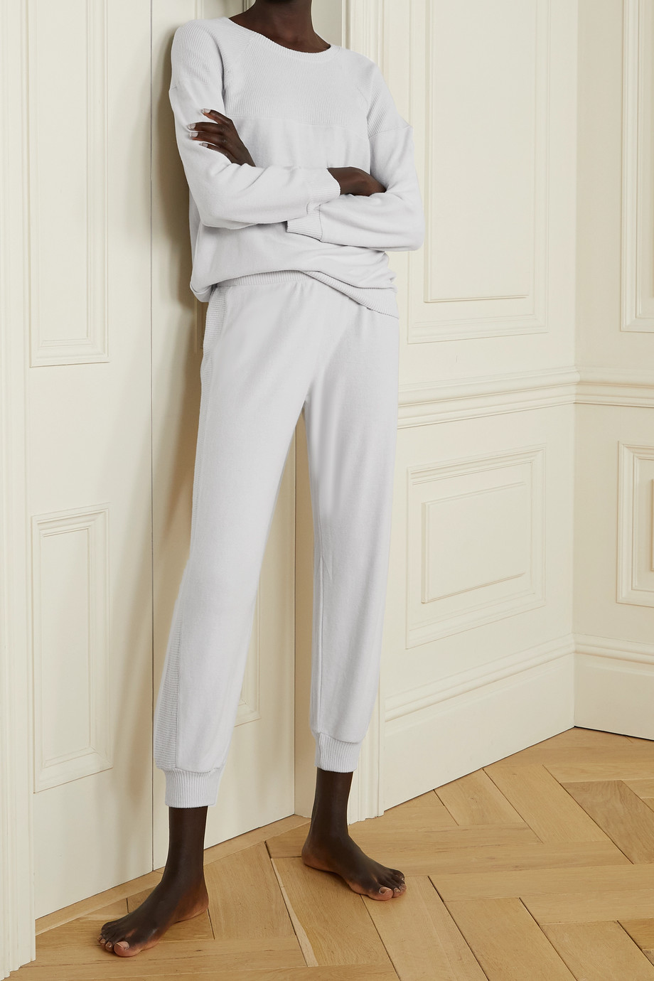 Eberjey Cozy Time stretch modal-blend track pants