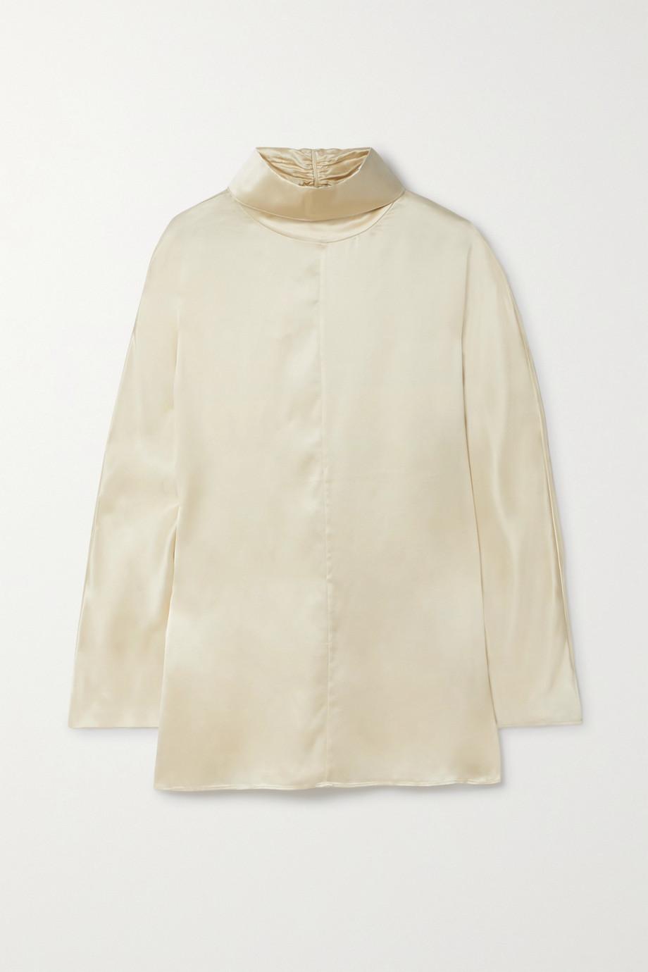 Co Silk-satin turtleneck blouse