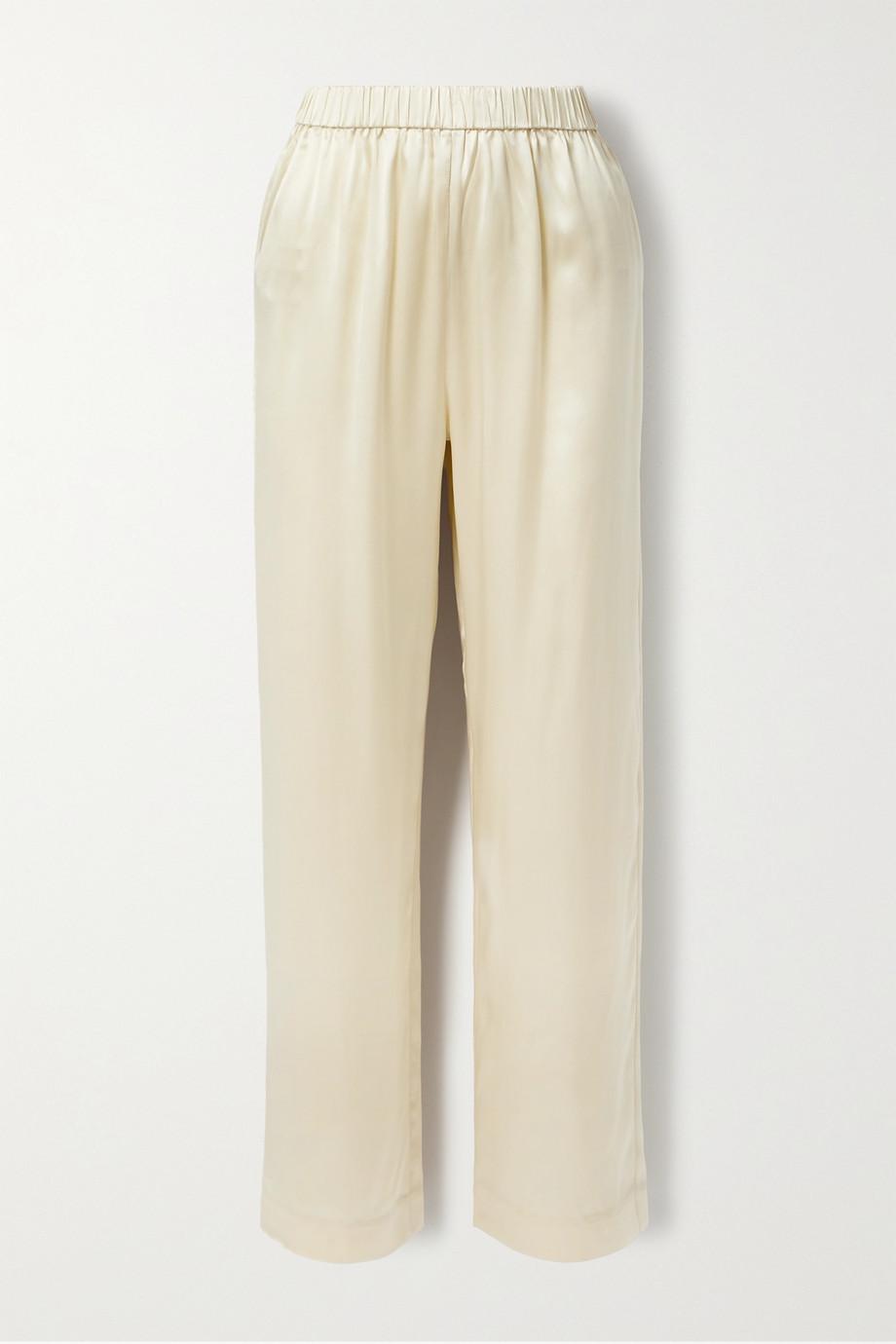 Co Hose mit geradem Bein aus Seidensatin
