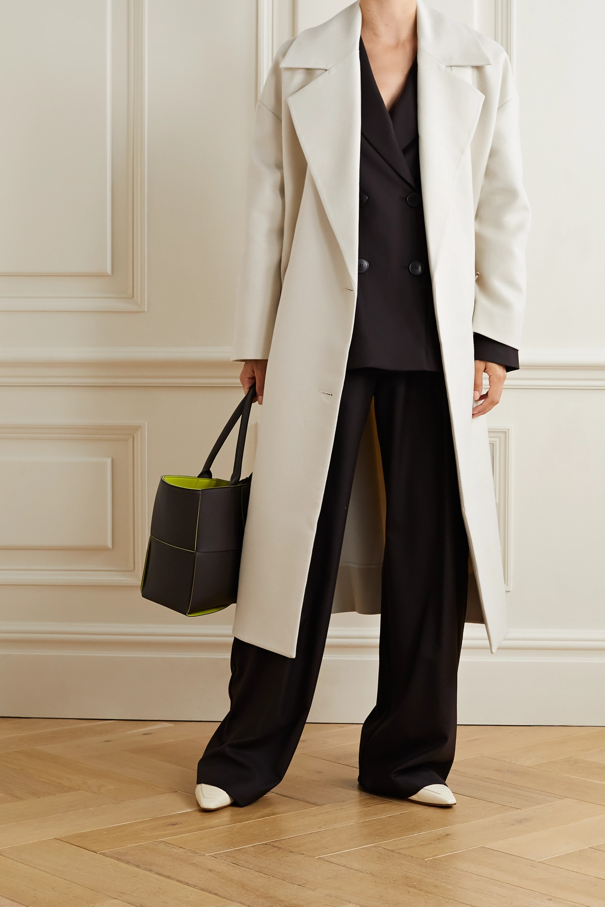 Co Oversized double-breasted cotton-twill coat