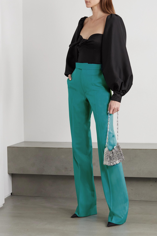The Attico Hose mit geradem Bein aus einer Wollmischung