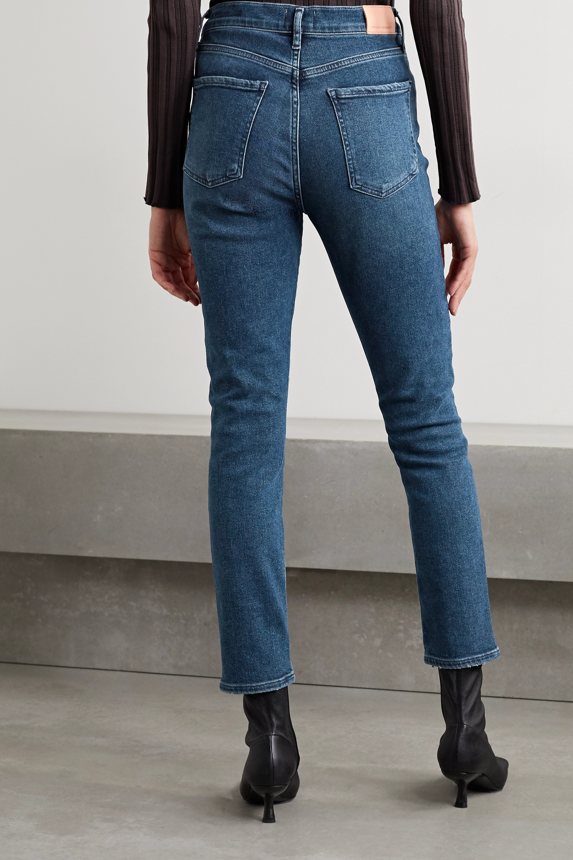 Citizens of Humanity + NET SUSTAIN Olivia high-rise slim-leg jeans