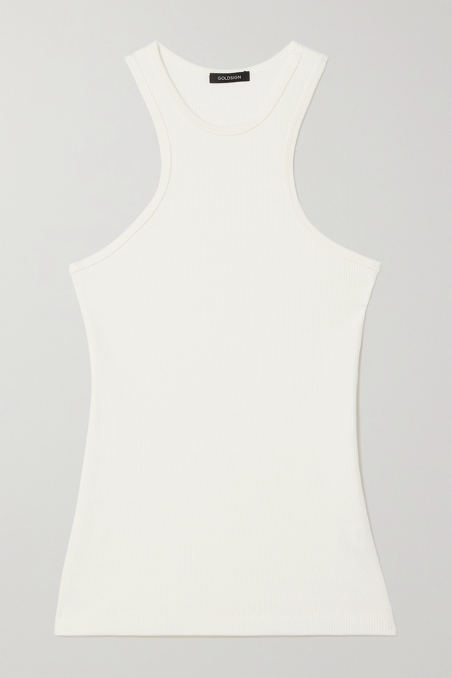 GOLDSIGN Ribbed stretch-jersey tank