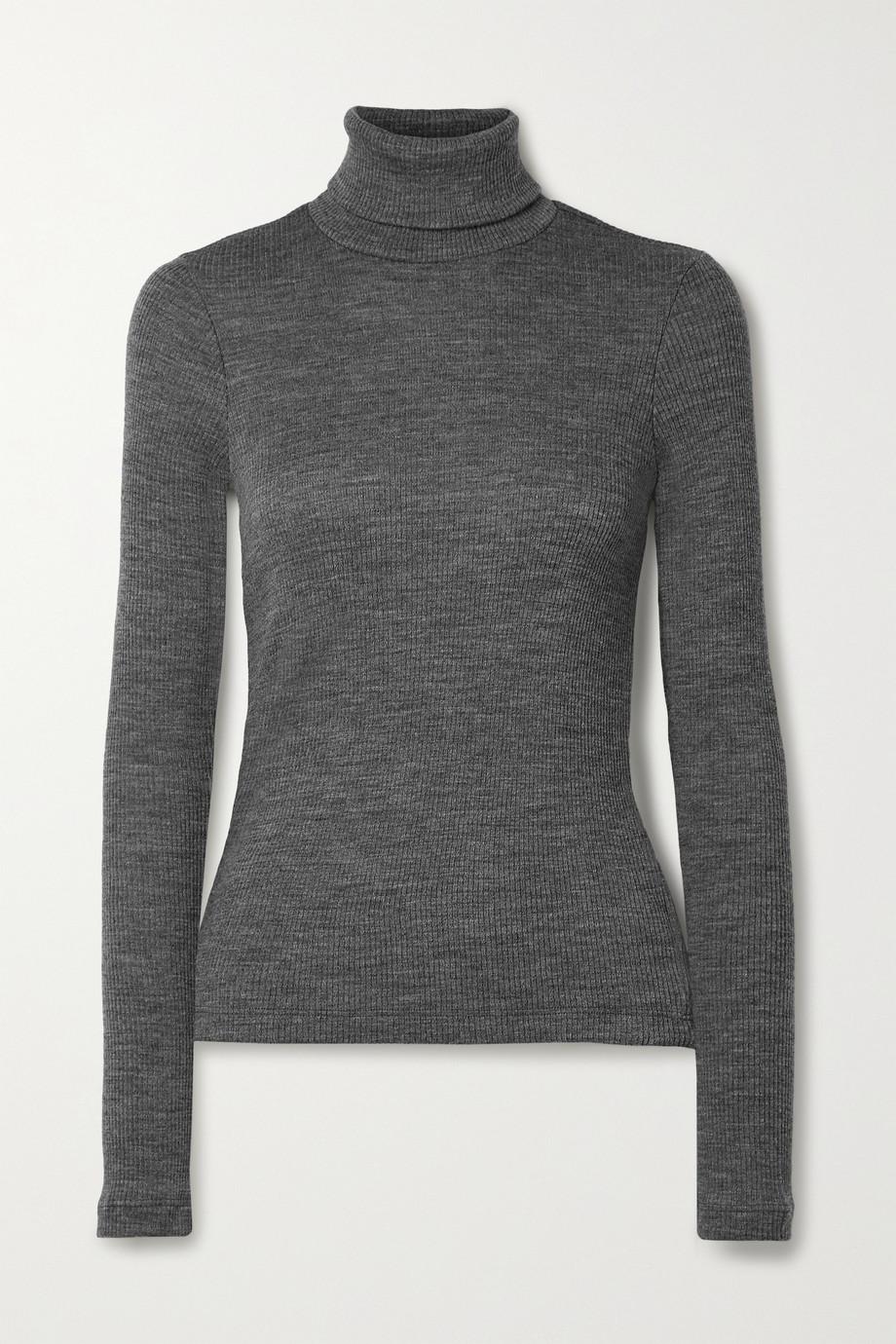 GOLDSIGN Ribbed wool-blend turtleneck sweater