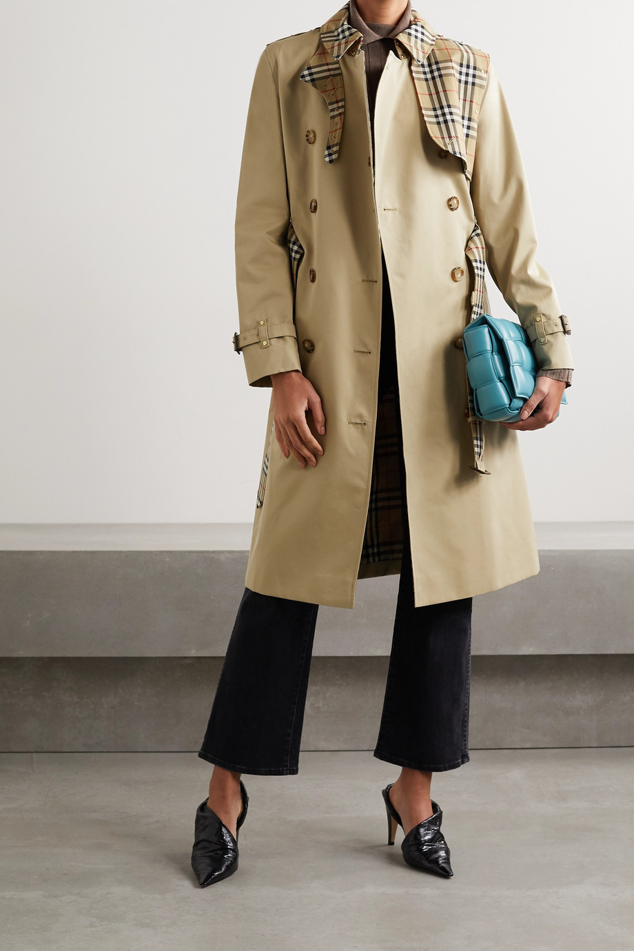 Burberry Hern embellished cotton-gabardine trench coat