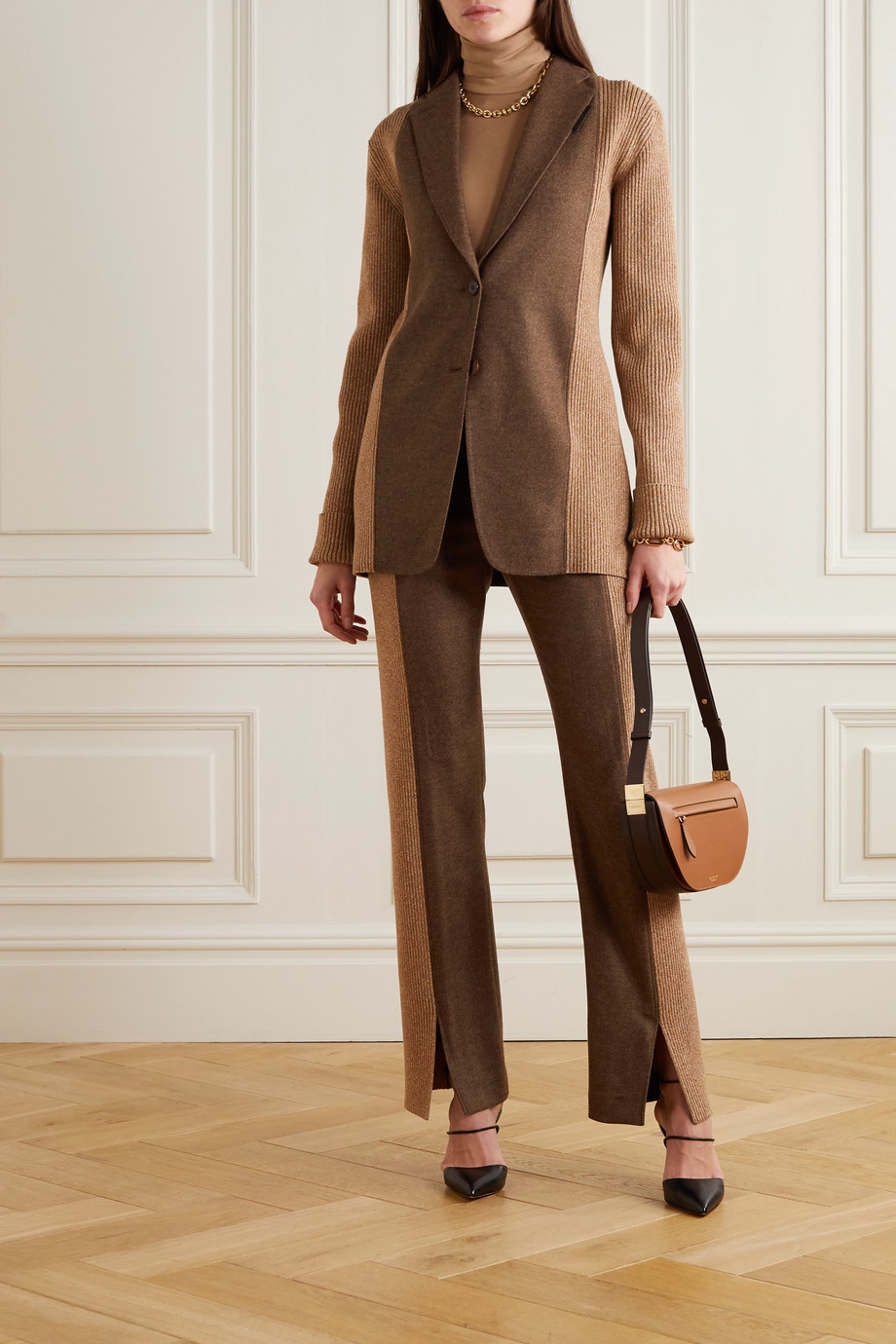 Burberry Paneled wool-blend blazer