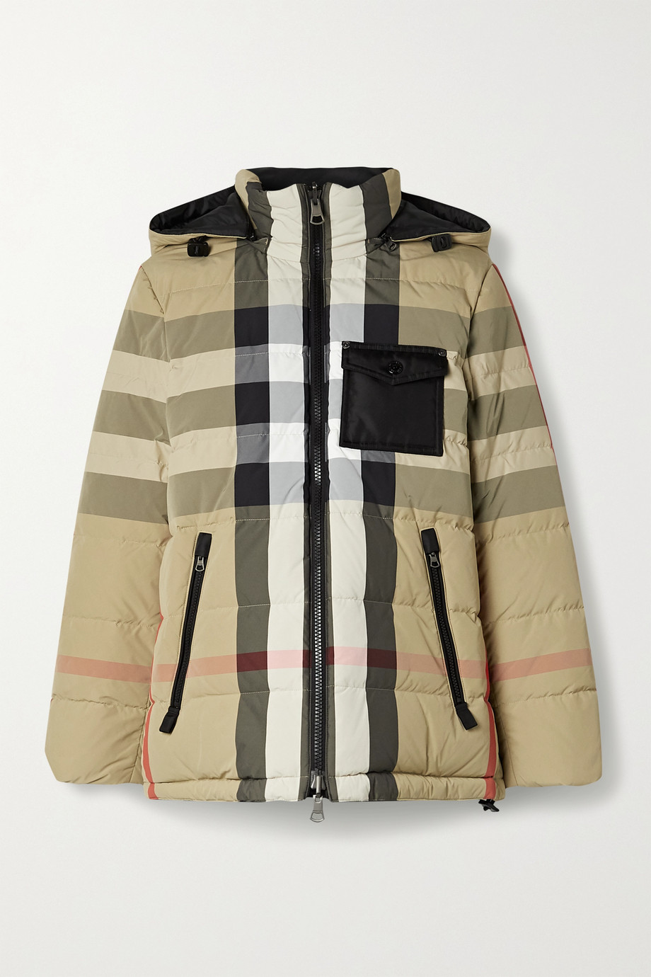 Burberry Reversible checked quilted shell down jacket