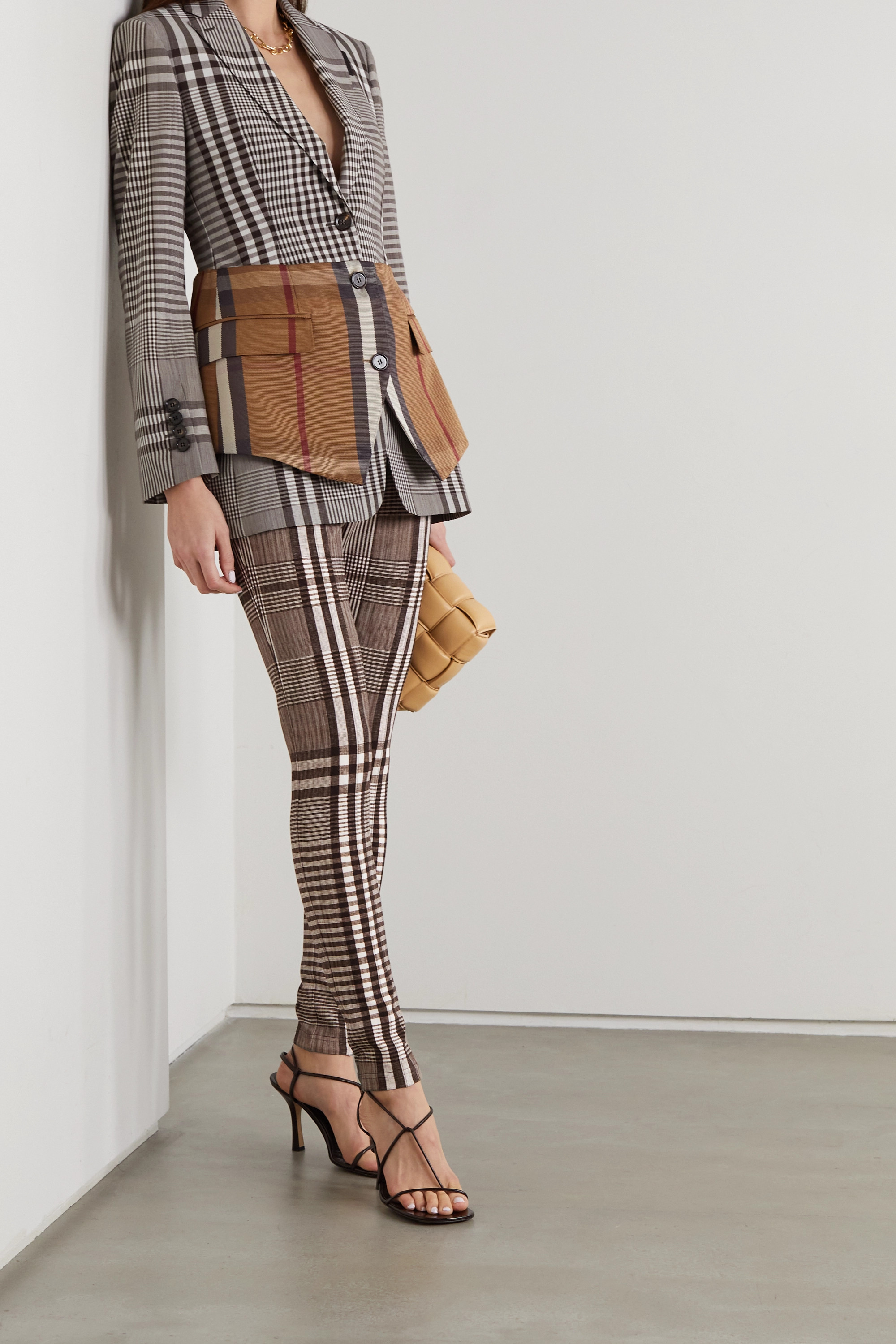 Burberry Checked woven skinny pants