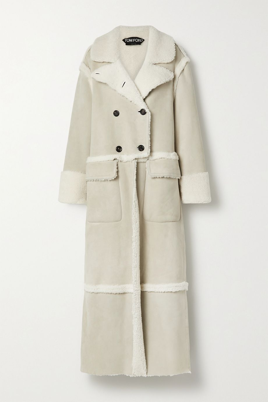 TOM FORD Double-breasted shearling coat