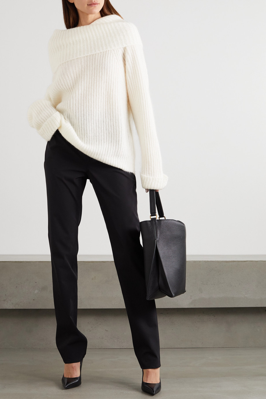 TOM FORD Ribbed mohair-blend turtleneck sweater