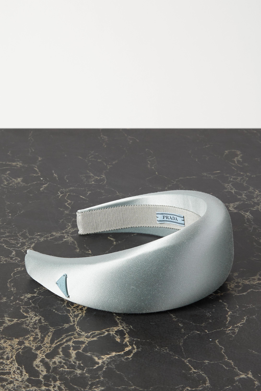 Prada Appliquéd satin headband