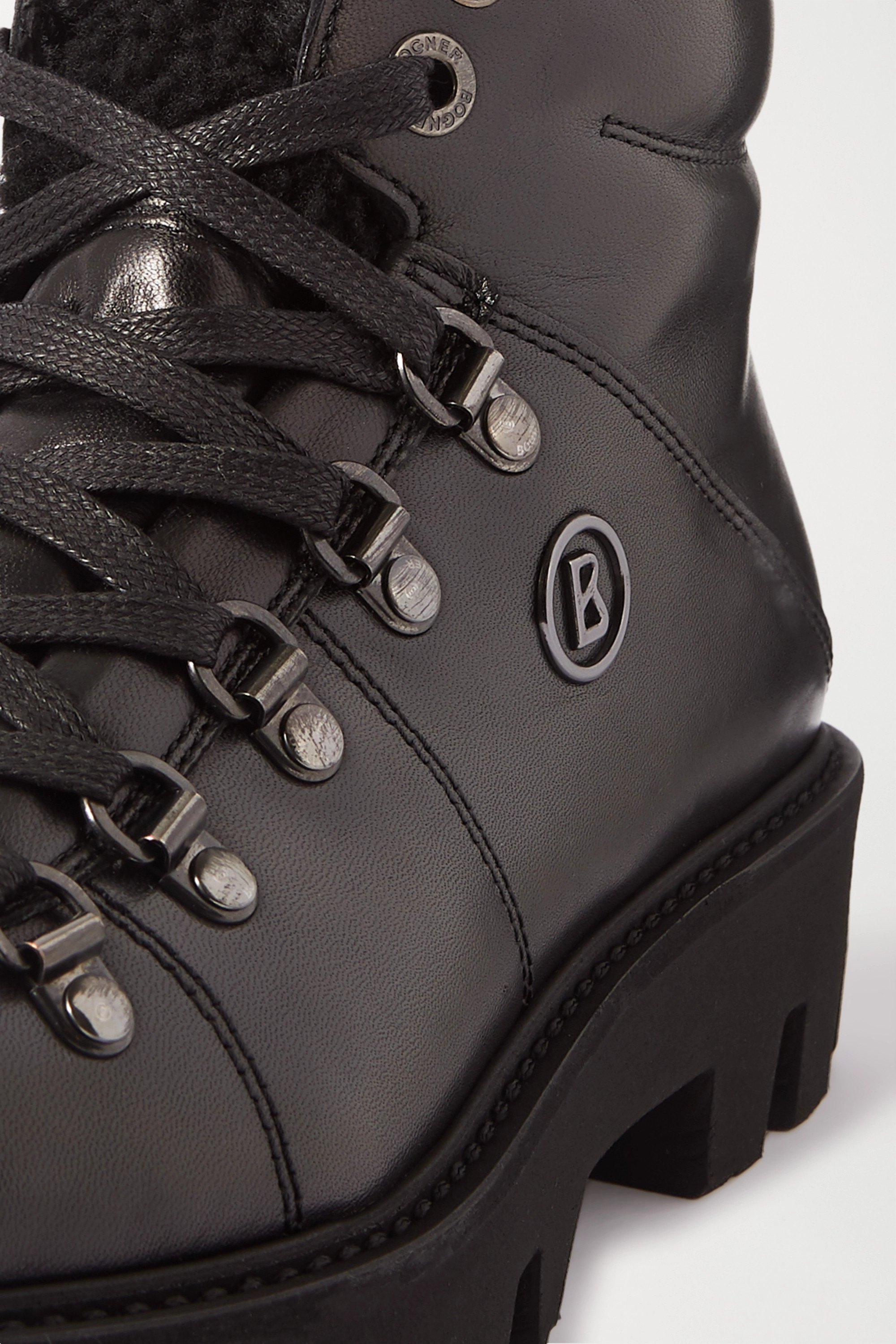 Bogner Copenhagen 羊毛皮衬里皮革踝靴