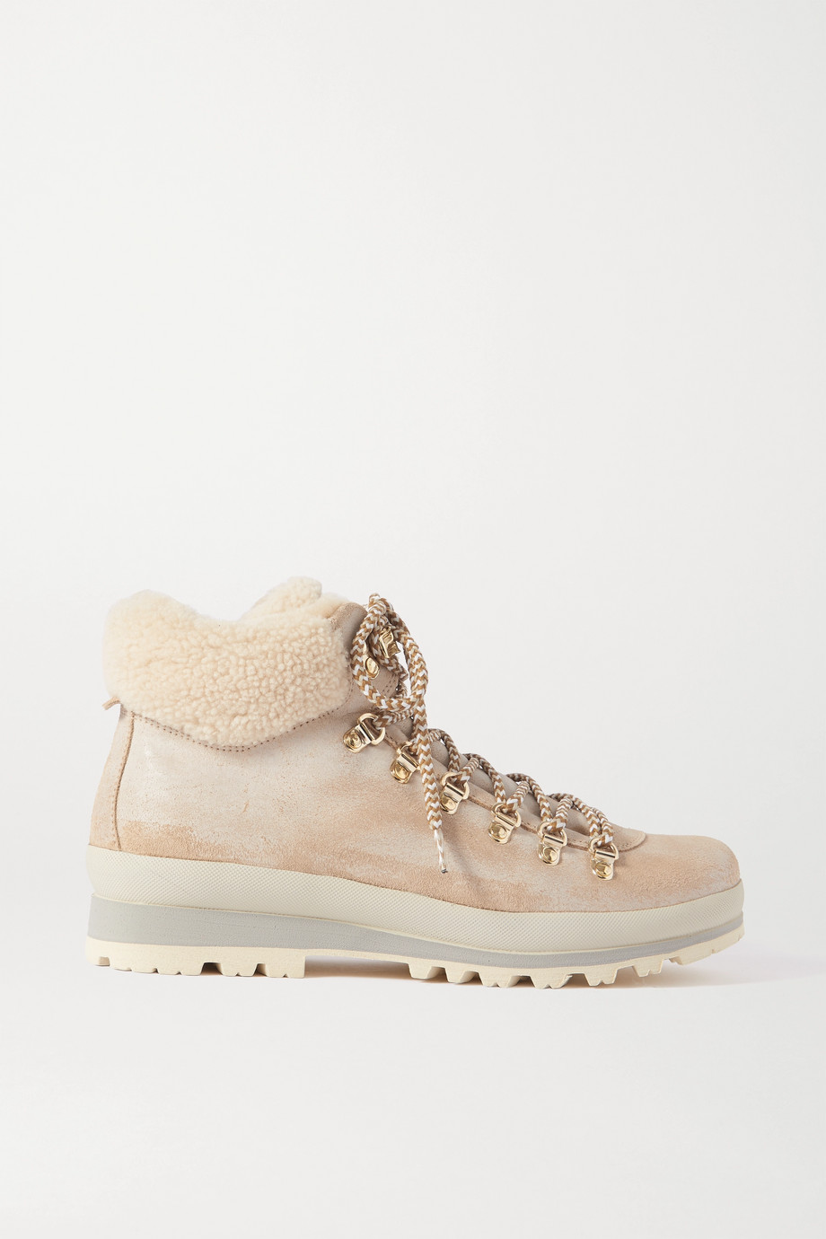 Bogner St. Anton shearling-lined nubuck ankle boots