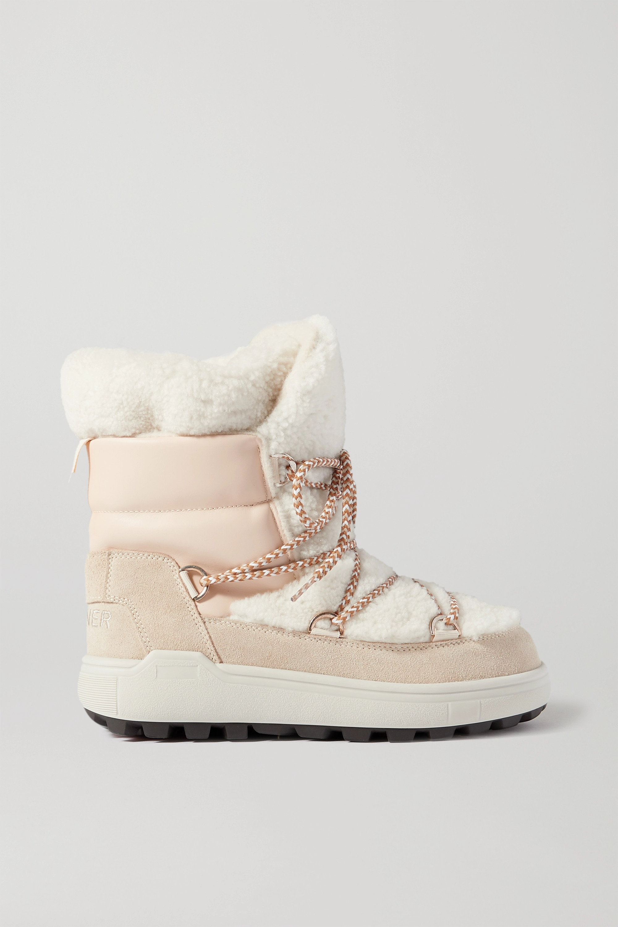 Bogner Chamonix 3 suede, leather and shearling snow boots