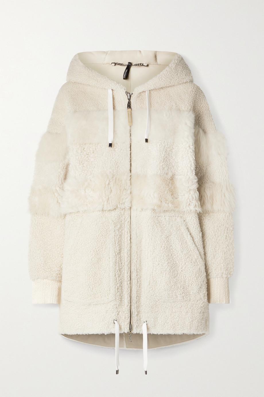 Bogner Manteau à capuche réversible en peau lainée à finitions en tissu technique Helen-L