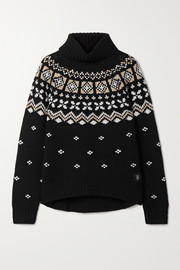 Bogner Sina Fair Isle cashmere turtleneck sweater