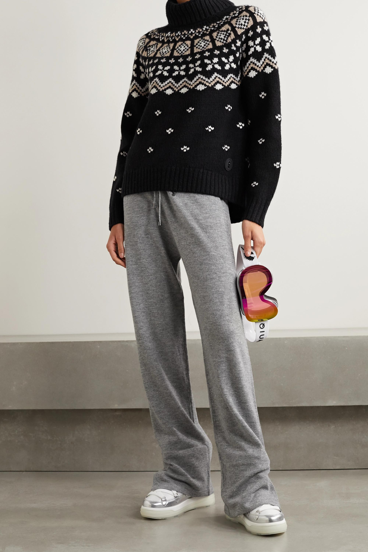 Bogner Sina Fair Isle cashmere turtleneck sweater