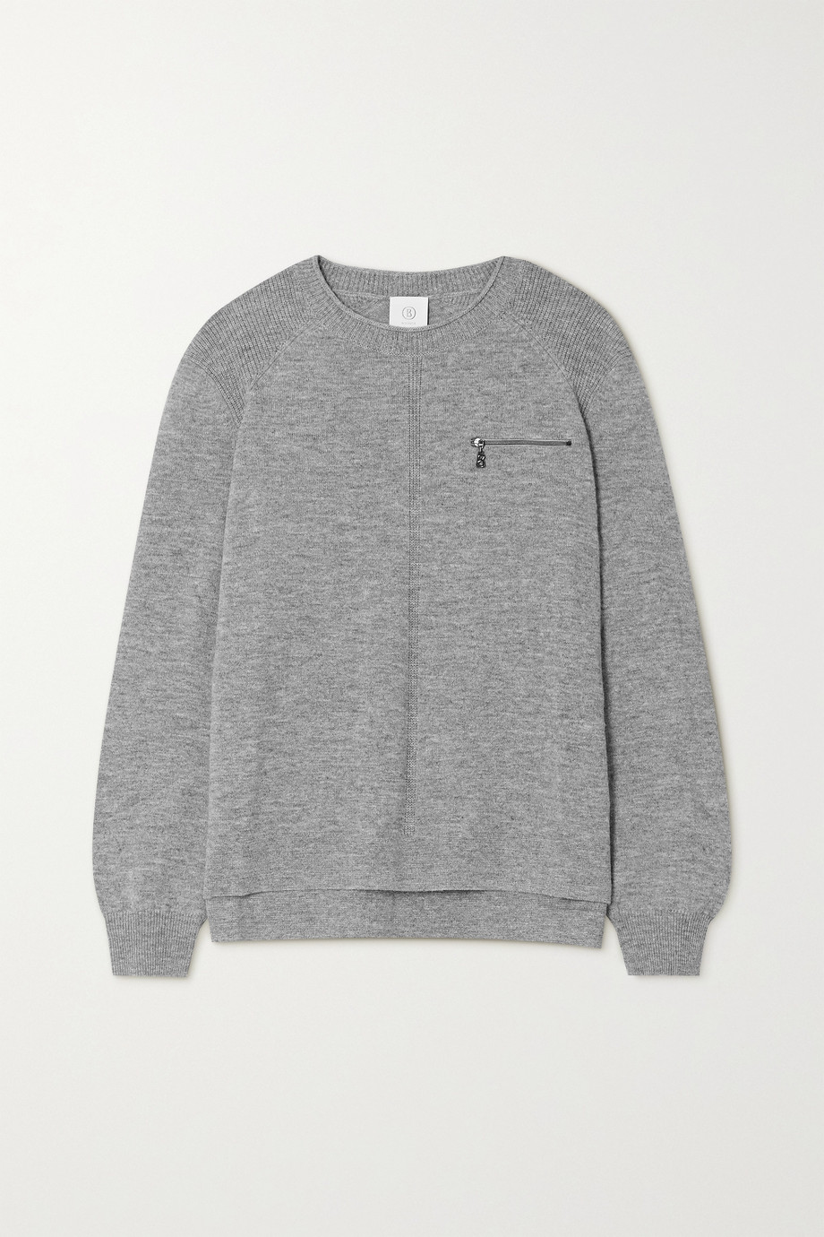 Bogner Gill zip-detailed mélange wool sweater