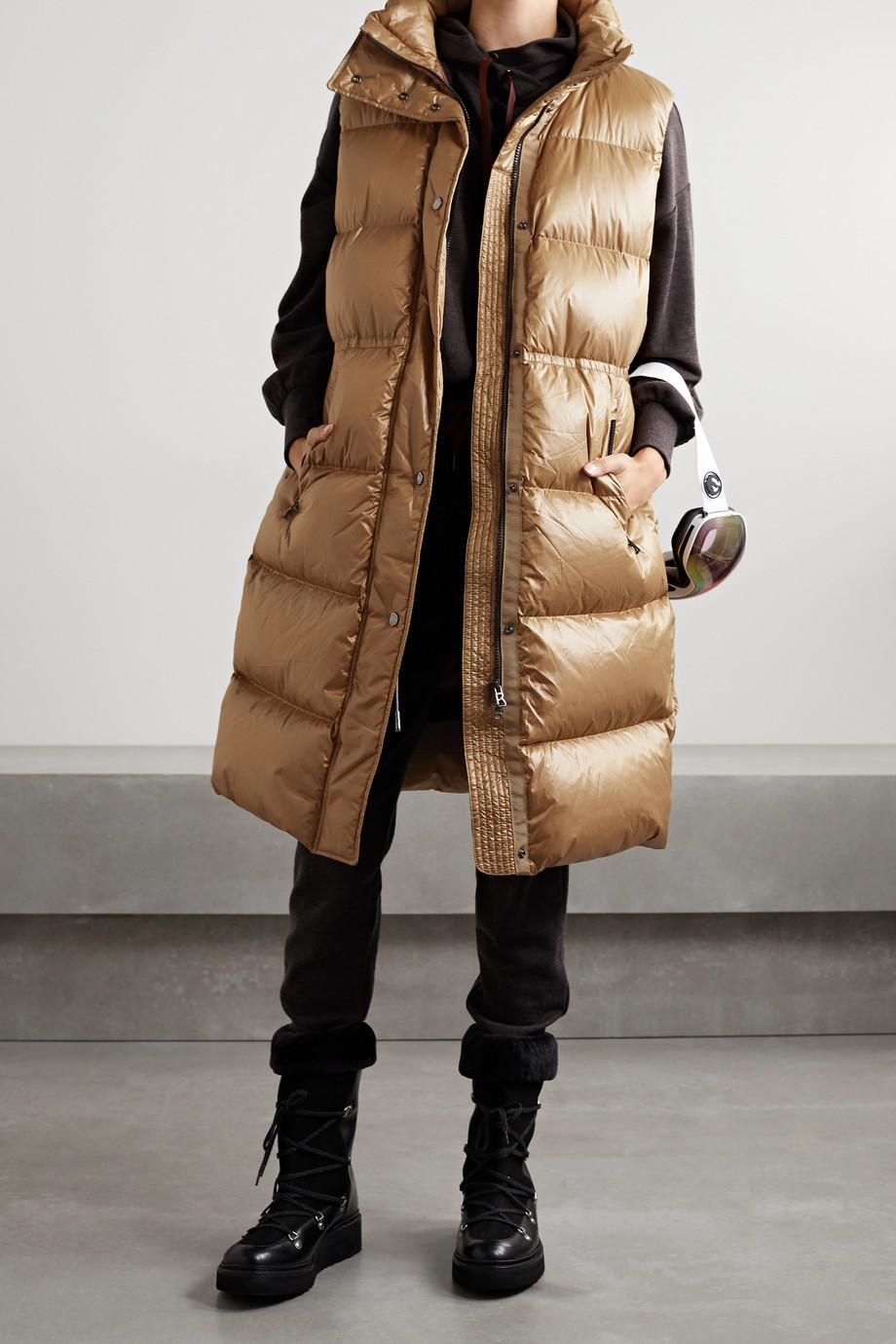 Bogner Billy-D hooded quilted down vest