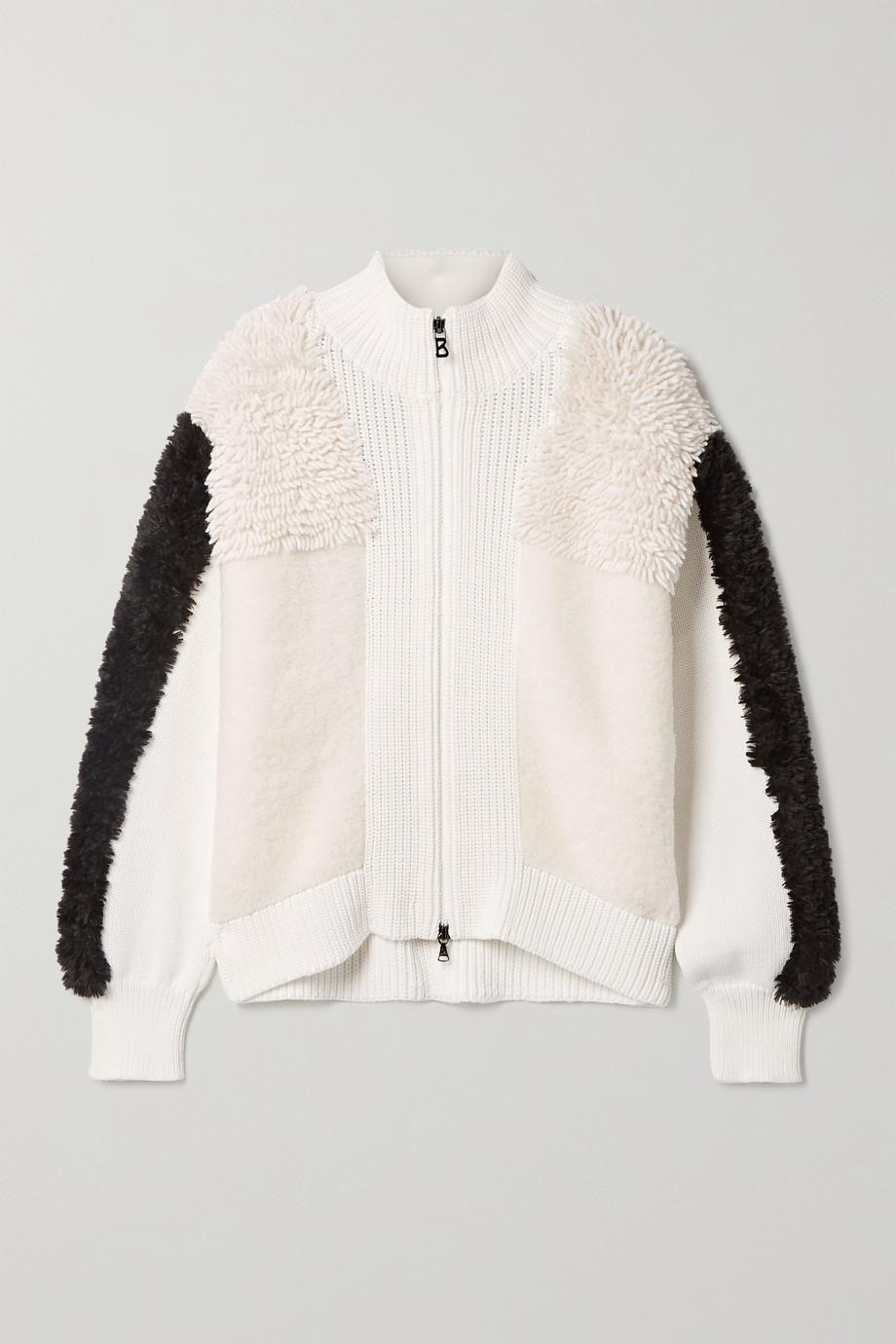 Bogner Magalie paneled wool-blend jacket