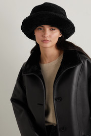 Bogner Mara appliquéd shearling bucket hat