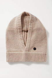 Bogner Berny appliquéd wool and cashmere-blend hood