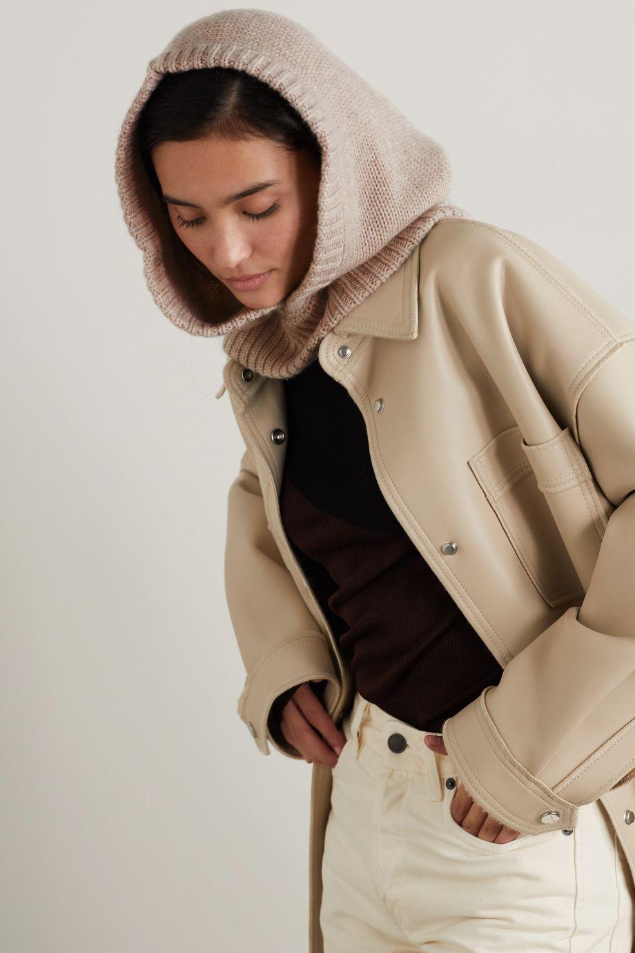Bogner Berny appliquéd wool and cashmere-blend hood