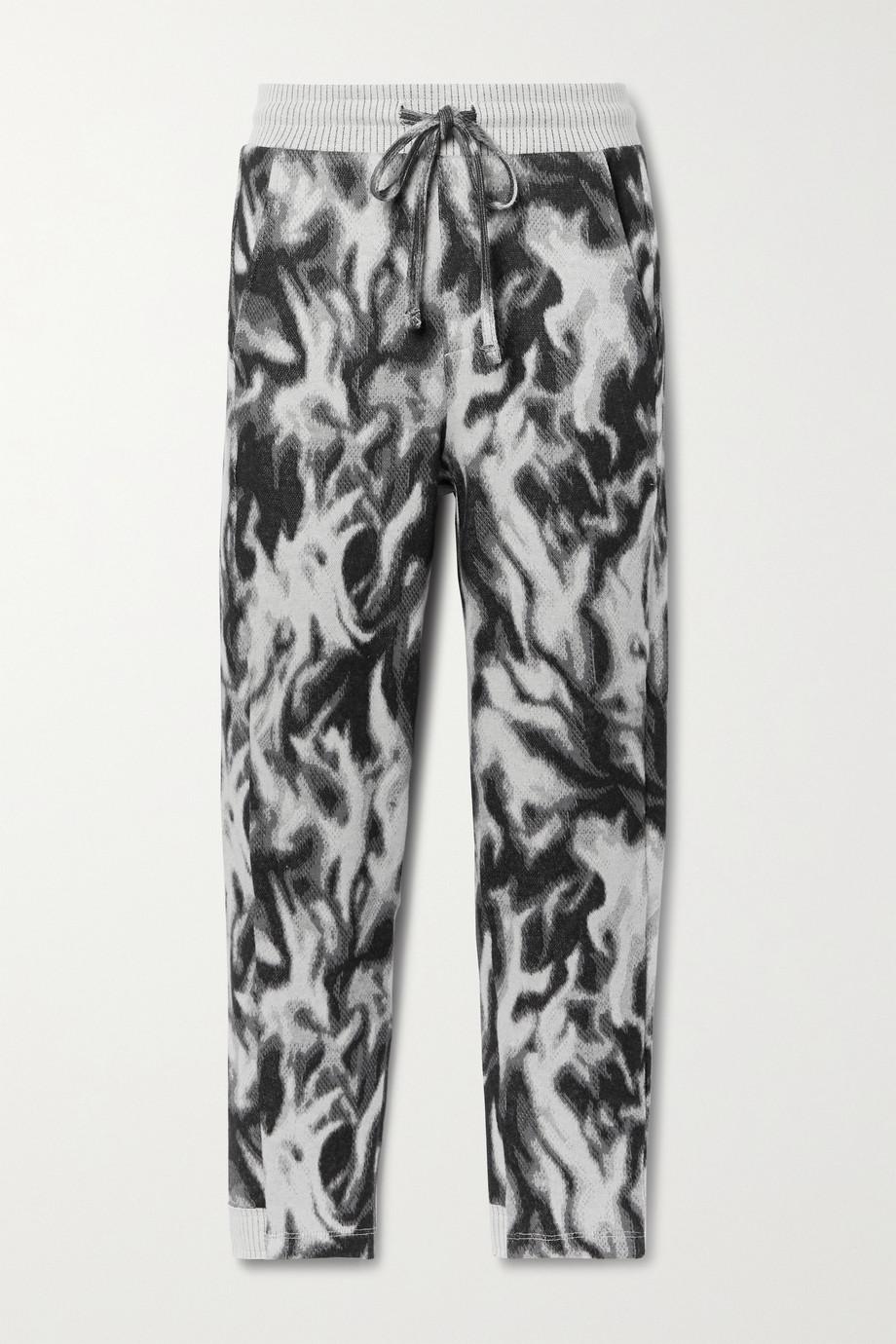 TWENTY Montréal Flames Hyper Reality jacquard-knit cotton-blend track pants