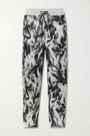 TWENTY Montréal Flames Hyper Reality intarsia cotton-blend jersey track pants
