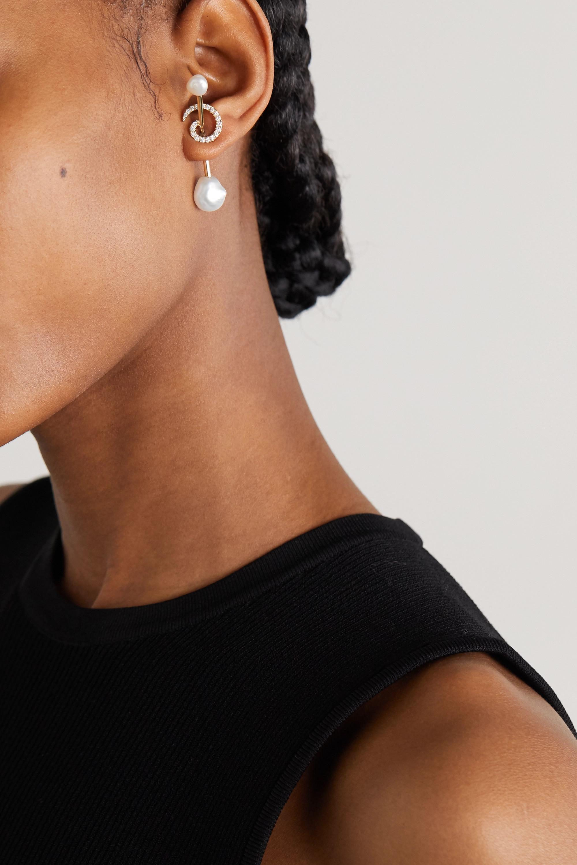 Anissa Kermiche Betty 14-karat gold, pearl and diamond earring