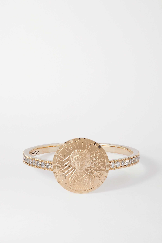 Anissa Kermiche Louise d'Or Pavé 14-karat gold diamond ring