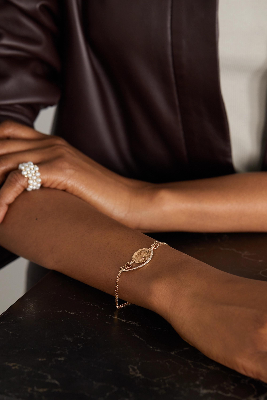 Anissa Kermiche Louise d'Or Coin 14-karat gold multi-stone bracelet