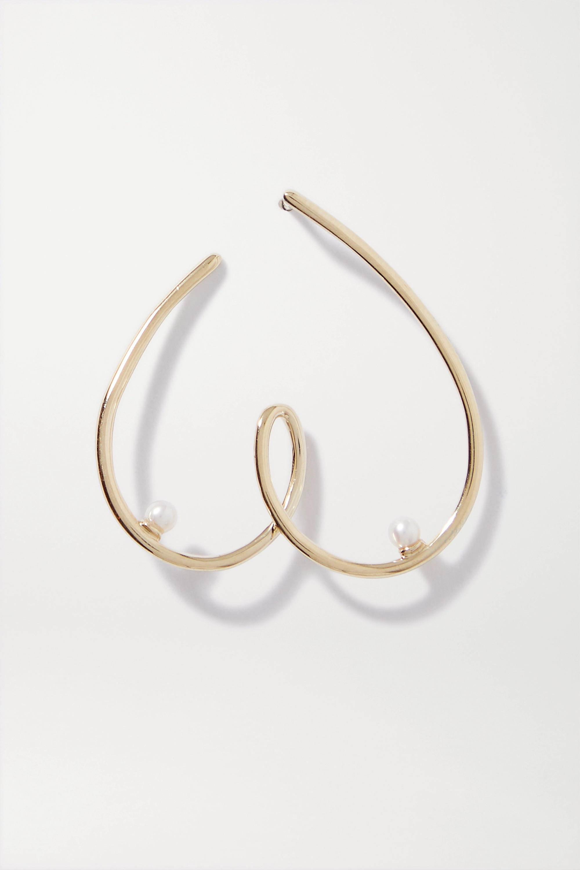Anissa Kermiche Free the Nip Ohrring aus 9 Karat Gold mit Perlen