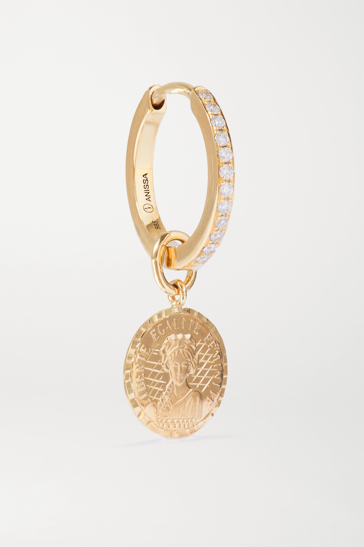 Anissa Kermiche Louise d'Or Coin 14-karat gold diamond earring