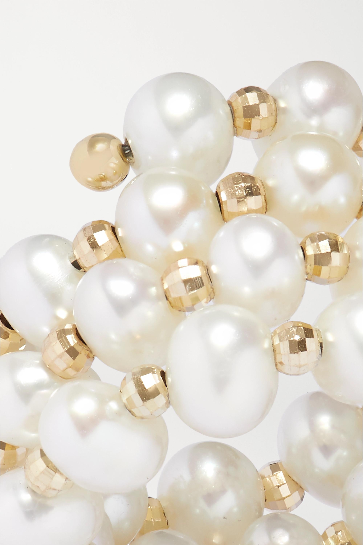 Anissa Kermiche Impromptu gold pearl ring