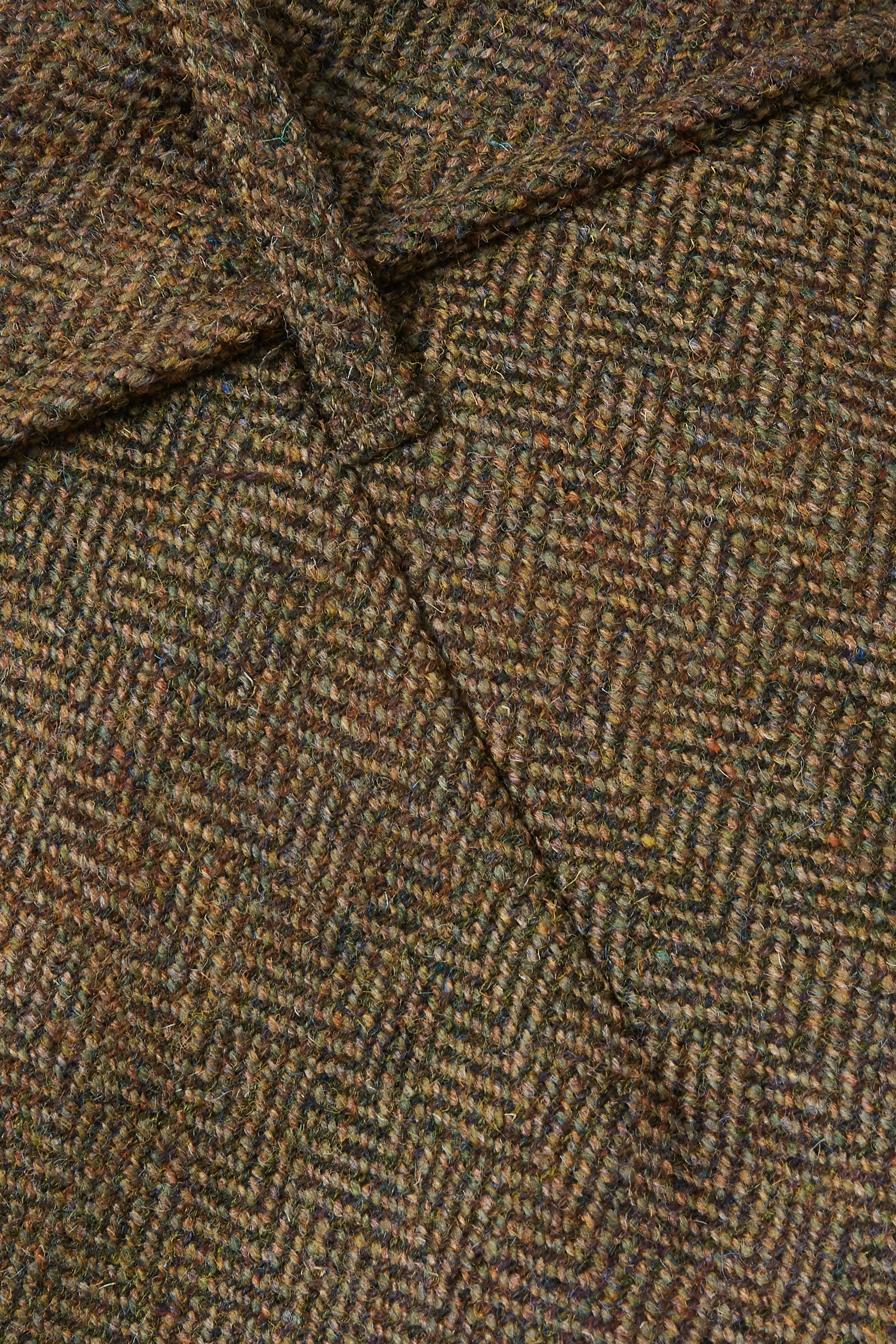 Army Green Cropped Belted Cotton-trimmed Checked Wool-tweed Tapered Pants | Purdey